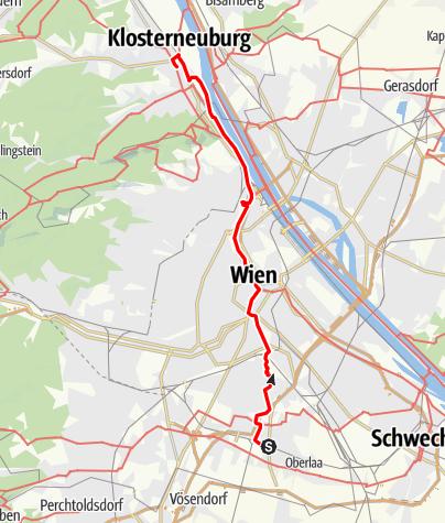 Map / Tag 6   1.7.21 - 100Jahr Wanderung: Teil 2 ab Neulaa bis Klosterneuburg