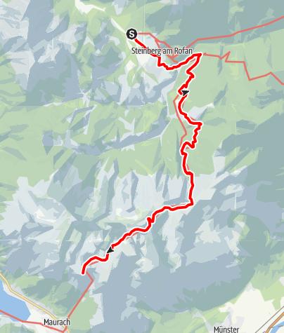 Map / Adlerweg - Etappe 7: Steinberg am Rofan - Erfurter Hütte