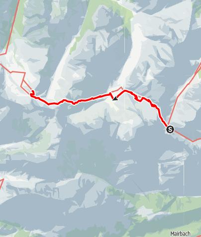 Map / Adlerweg - Etappe 9: Lamsenjochhütte - Falkenhütte