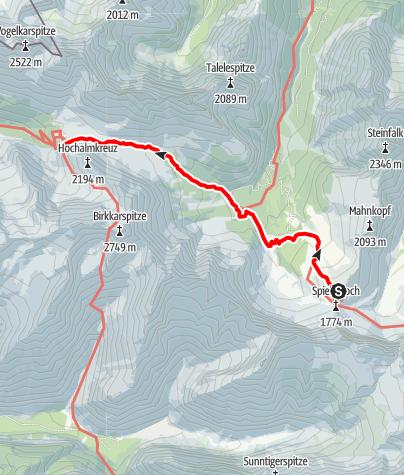 Map / Adlerweg - Etappe 10: Falkenhütte - Karwendelhaus