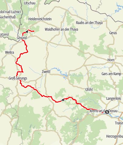 Map / Tag 16 | 11.7.21 - 100Jahr Wanderung: Krems - Schrems