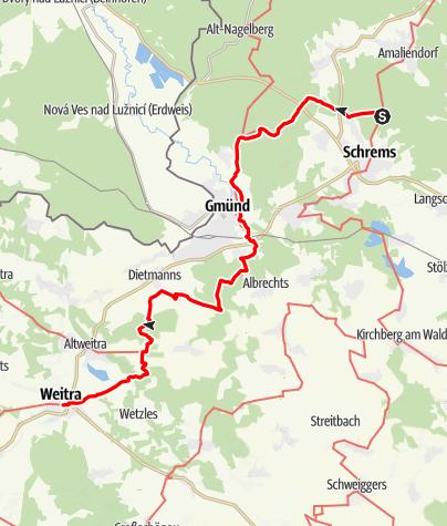 Map / Tag 17   12.7.21 - 100Jahr Wanderung: Schrems - Weitra