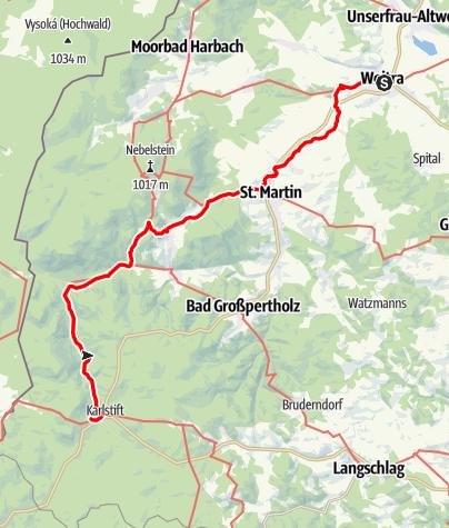Map / Tag 18 | 13.7.21 - 100Jahr Wanderung: Weitra - Karlstift/Sandl