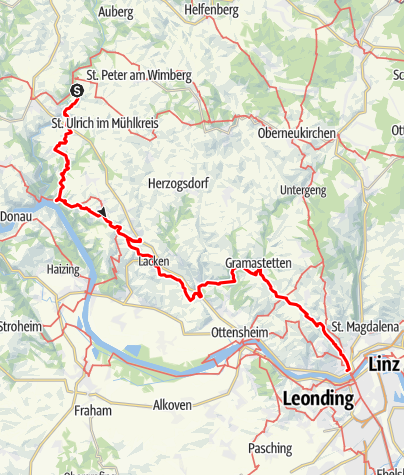 Map / Tag 23   18.7.21 - 100Jahr Wanderung: Neufelden über St. Martin nach Linz