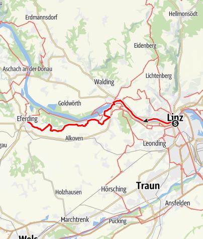 Map / Tag 24   19.7.21 - 100Jahr Wanderung: Linz - Eferding