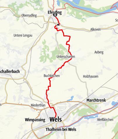 Map / Tag 25 | 20.7.21 - 100Jahr Wanderung: Eferding - Wels