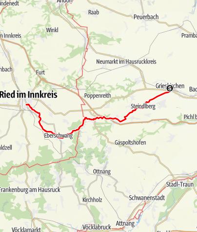 Map / Tag 27   22.7.21 - 100Jahr Wanderung: Grieskirchen - Ried im Innkreis