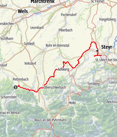 Map / Tag 36 | 31.7.21 - 100Jahr Wanderung: Pettenbach/Rankleiten - Steyr