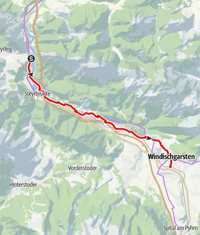 Map / Tag 38   2.8.21 - 100Jahr Wanderung: Klaus - Windischgars,ten