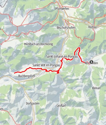 Map / Tag 44 | 8.8.21 - 100Jahr Wanderung: Wagrain - Goldegg Böndlsee