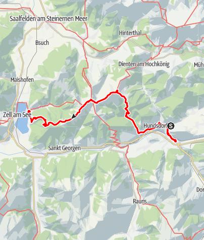 Map / Tag 45 | 9.8.21 - 100Jahr Wanderung: Goldegg - Zell am See