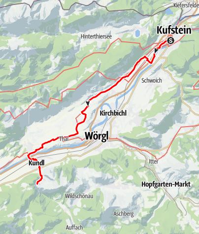 Map / Tag 50   14.8.21 - 100Jahr Wanderung: Kufstein - Kundl