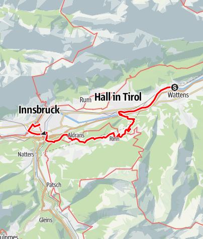 Map / Tag 53   17.8.21 - 100Jahr Wanderung: Wattens - Innsbruck