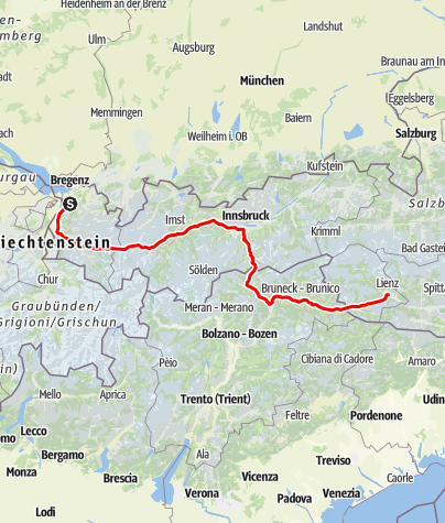 Map / Tag 56   20.8.21 - 100Jahr Wanderung: Dornbirn - Lienz