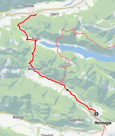 Map / Tag 59 | 23.8.21 - 100Jahr Wanderung: Hermagor - Steinfeld