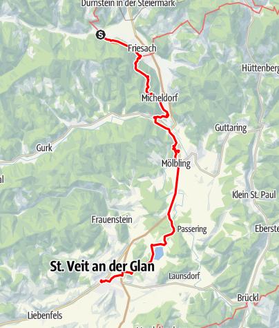 Map / Tag 69 | 2.9.21 - 100Jahr Wanderung: Friesach - St. Veit an der Glan
