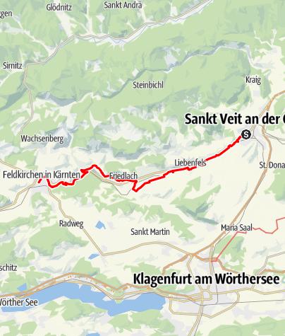 Map / Tag 70 | 3.9.21 - 100Jahr Wanderung: St. Veit - Feldkirchen