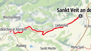 Map / Tag 70   3.9.21 - 100Jahr Wanderung: St. Veit - Feldkirchen