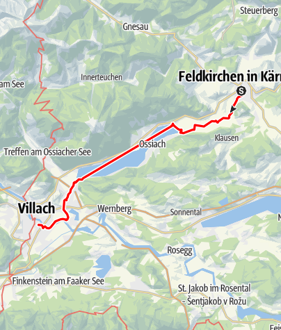 Map / Tag 71 | 4.9.21 - 100Jahr Wanderung: Feldkirchen – Villach