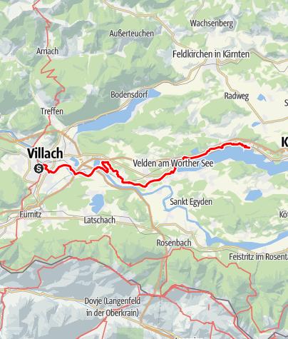 Map / Tag 72   5.9.21 - 100Jahr Wanderung: Villach - Pörtschach