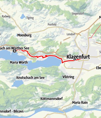 Map / Tag 73   6.9.21 - 100Jahr Wanderung: Pörtschach - Klagenfurt