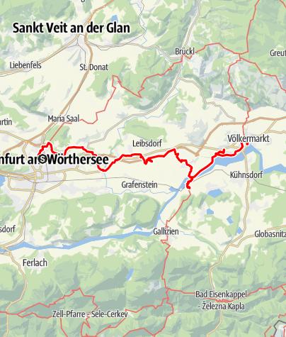 Map / Tag 74   7.9.21 - 100Jahr Wanderung: Klagenfurt - Völkermarkt