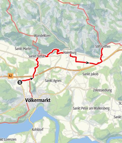Map / Tag 75 | 8.9.21 - 100Jahr Wanderung: Völkermarkt - Griffen