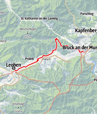 Map / Tag 84   17.9.21 - 100Jahr Wanderung: Leoben - Bruck