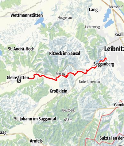 Map / Tag 90   23.9.21 - 100Jahr Wanderung: Gleinstätten/Goldes - Leibnitz