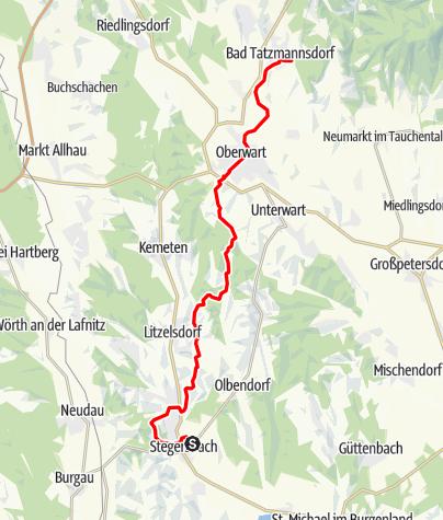 Map / Tag 95 | 28.9.21 - 100Jahr Wanderung: Stegersbach - Bad Tatzmannsdorf