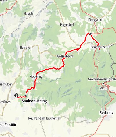 Map / Tag 96 | 29.9.21 - 100Jahr Wanderung: Bad Tatzmannsdorf - Lockenhaus