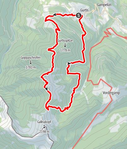 Karte / Hohe Köpfe - Rundtour