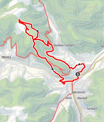 Karte / Baiersbronn - Petermännle
