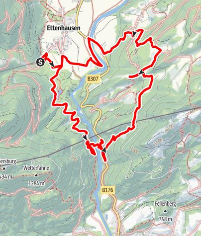 Karte / Schmugglerweg und Samerrundweg