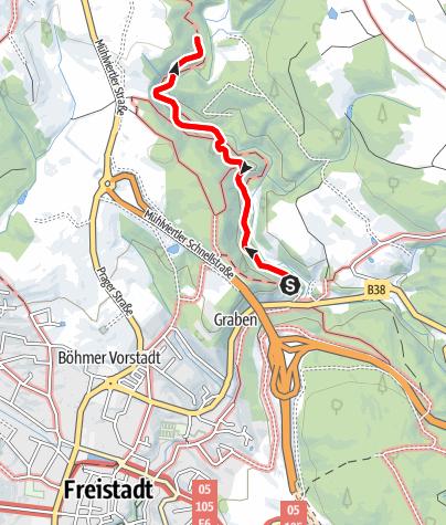 Karte / Durch das Thurytal bei Freistadt (barrierefrei)