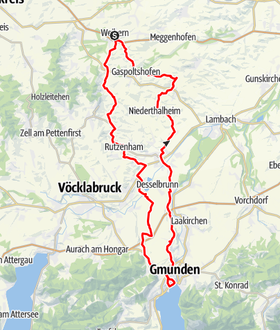 Karte / Traunsee