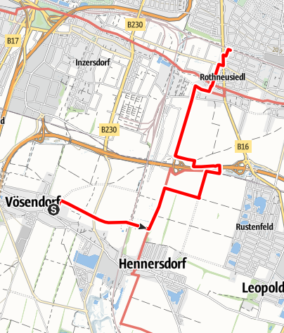 Map / Tag 6   1.7.21 - 100Jahr-Wanderung: Teil 1 Vösendorf - Neulaa U1