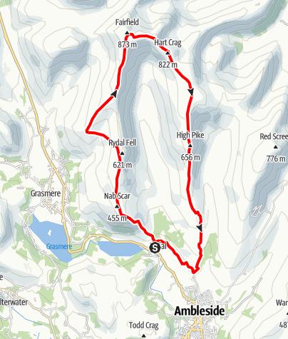 Karte / Lakes - Route 3: The Greater Fairfield Horseshoe