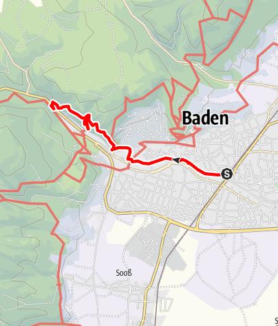 Map / Baden & Ruine Rauhenstein