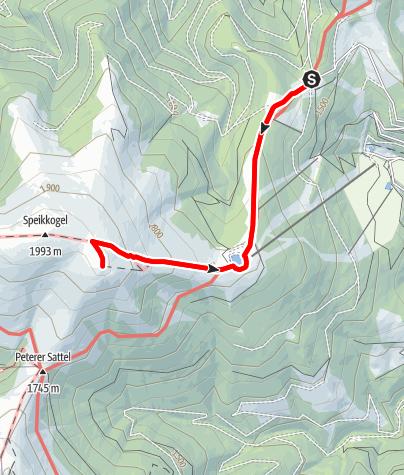 Karte / Salzstiegl - Speikkogel