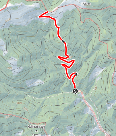 Karte / Forsthaus Gallmannsegg - Sandebenkreuz
