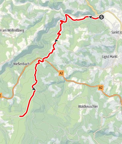 Karte / Gaisfeld - KW Arnstein - Aiblwirt
