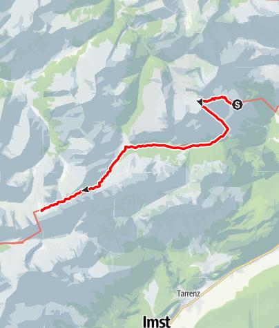 Map / Adlerweg - Etappe 18: Lorea Hütte - Anhalter Hütte