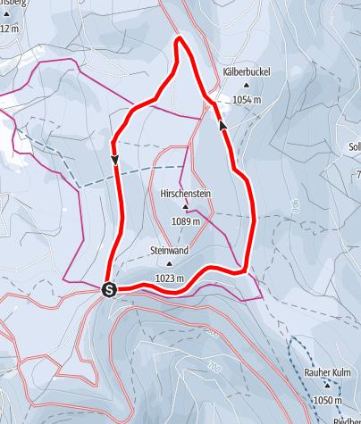 Karte / Grandl-Ödwies-Loipe