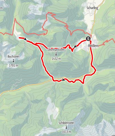 Karte / Kreuth - Leonhardsteinsattel - Schwarztenn Alm - Klamm - Wildbad Kreuth - Kreuth