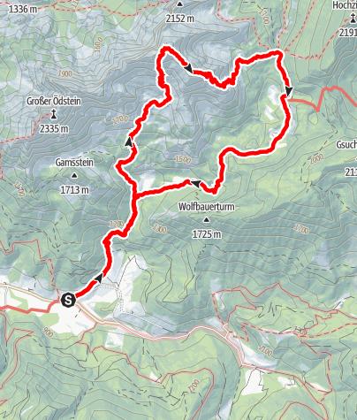 Karte / Hochtor via Schneeloch