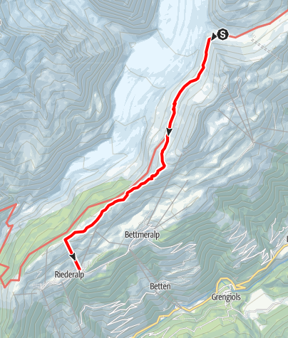Karte / Märjelen - Moosfluh