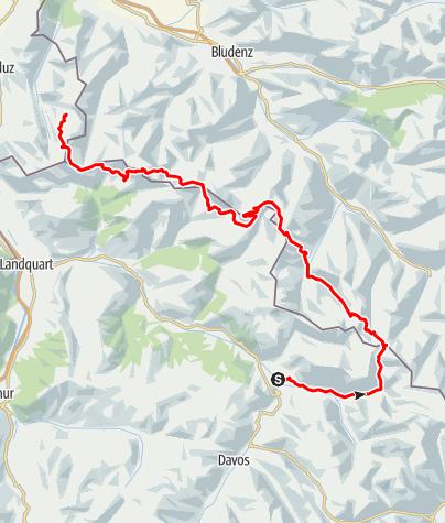 Karte / Rätikon Highway