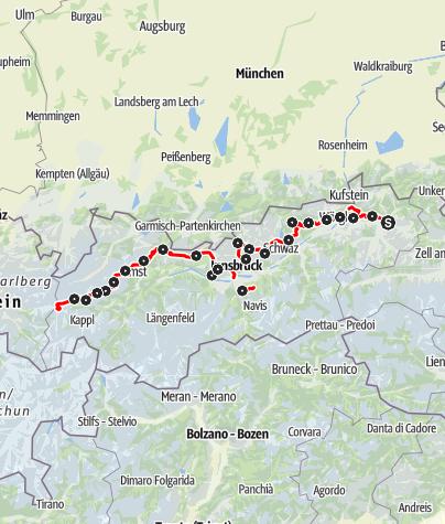 Karte / Adlerweg - Nordtiroler Route