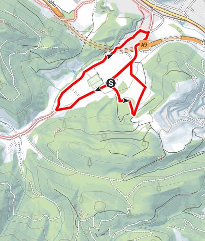 Karte / Wanderung am Himmelreichbiotop Richtung Kremsursprung (barrierefrei)